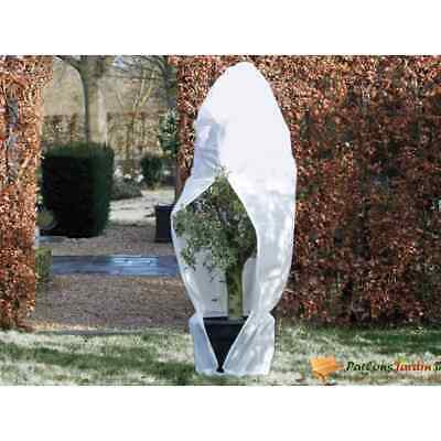 Nature Winter Cover Fleece With Zip 150x150x200cm White Plant Protection Bag