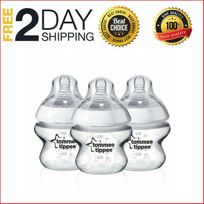 Tommee Tippee Closer to Nature 150 ml/5fl oz Feeding Bottles 3-pack