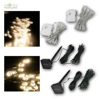 LED Fairy Lights 50/100 Leds, Battery & Timer or Solar, for Indoor and Outdoor