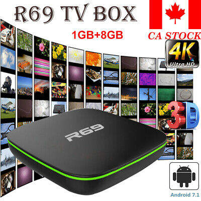 CA New R69 Android 7.1 Smart TV Box Quad Core WIFI H.265 4K 3D HDMI Media Player