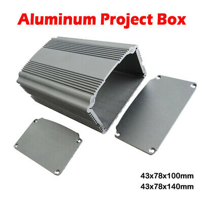 Aluminum Instrument Box Enclosure Electronic Project Case 43x78x100mm/140mm