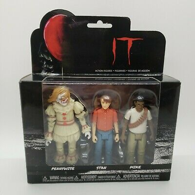 """PENNYWISE STAN MIKE Funko IT 3-Pack Set #4 Reaction 3.75/"""" Scale Figures"""