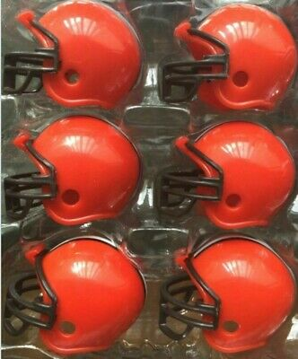 Nfl Cleveland Browns 6 Mini Helmets Great For Cake Decorations