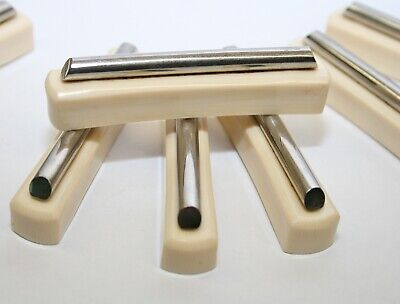 10 x Vintage 1920's ART DECO Cream Bakelite & Chrome Knife Rests - Ultra Stylish