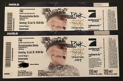 2x PINK Tickets - Front Of Stage- Olympiastadion Berlin 14. Juli 2019