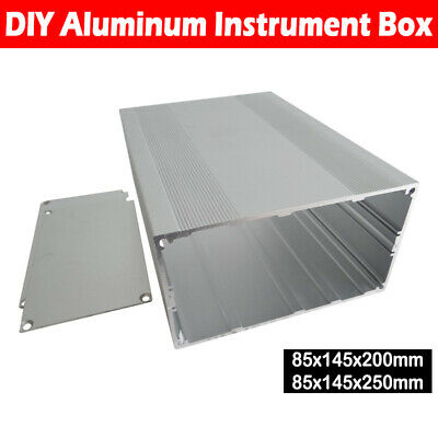 Split Body Aluminum Box Enclosure Case Electronic DIY Project Sheet 85x145x250mm