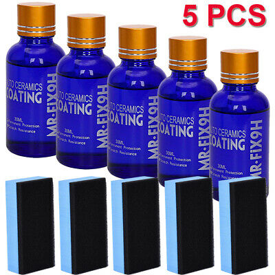 5pcs 9H Hardness Liquid Nano Super Hydrophobic Ceramic Car Glass Coating Paint