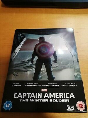 CAPTAIN AMERICA THE WINTER SOLDIER, Marvel , 3D & 2D BLU RAY STEELBOOK.