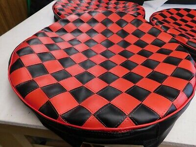 Semi Fuel Tank Covers Checkerboard 26""