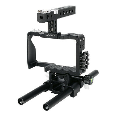 Andoer Camera Cage Film Making Video Stabilizer for SONY A6000 A6300 A6500 C1U0
