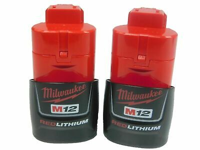 2x Brand Milwaukee M12 Red batteries 12V 2.0Ah Compact Li-ion Battery Pack* new