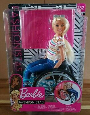 Barbie Fashionistas 132 Wheelchair Playset NEW