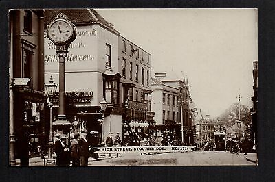 Stourbridge - High Street - real photographic postcard