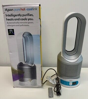 Dyson Pure Hot + Cool Link HP02 Wi-Fi Enabled Air Purifier WT (New but CRACKED)