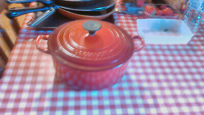 Cocotte Le Creuset Ronde 20 Rouge Fonte Emaillee