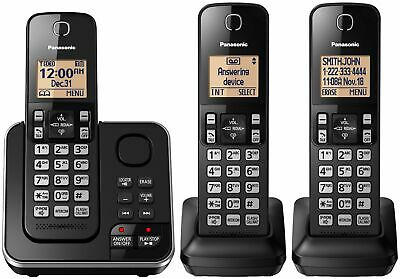 Panasonic DECT 6.0 PLUS 3-Handset Expandable Digital Cordless Phone w/ Answerin