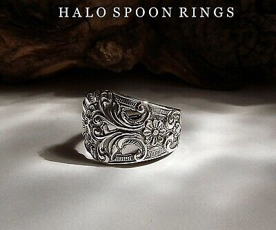Spoon Ring Pretty Norwegian Silver Thorvald Marthinsen  The Perfect Gift Idea