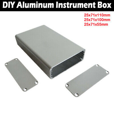 Aluminum Electronic Project PCB Instrument Box Enclosure Case New UK