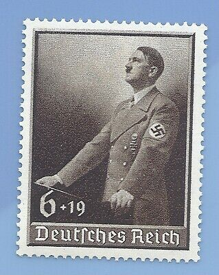 Germany Nazi Third Reich 1939 Swastika Adolf Hitler 6+19 stamp WW2 ERA