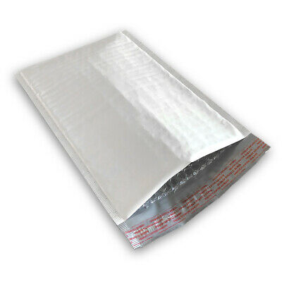 200 #2 8.5x12 POLY BUBBLE MAILERS SELF SEAL WHITE PLASTIC BAGS ENVELOPES
