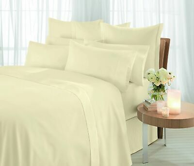 Sheridan Essentials. 1000 Thread Count Vanilla. Cotton Sateen. Bedskirt. Su J6A6