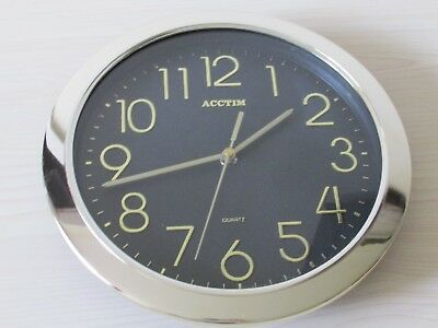 Vintage Acctim Wall Clock, Made In Singapore, Japan Movement, Working.