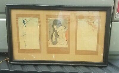 Early Japanese Woodblock Print Utamero.  Baison, Osun