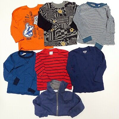 Lot of 7 Boys Long Sleeve Shirts Tops 4T Garanimals Circo Guitar