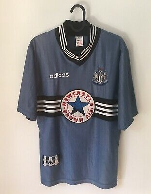 Vintage Adidas Newcastle United 1996/97 Away Shirt Football Brown Ale 90s Size S