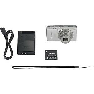 "NEW! Canon Ixus 185 20 Megapixel Compact Camera Silver 6.8 Cm 2.7"" Lcd 16:9 8X O"