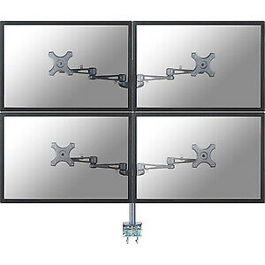 "NEW! Newstar Tilt/Turn/Rotate Quad Desk Mount Clamp for Four 10-27"" Monitor Scre"