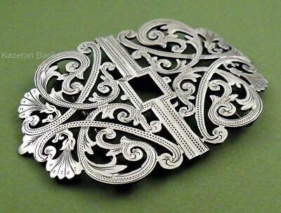 Antique Edwardian Period Solid Silver Nurse's Buckle By Charles E Adams 1903