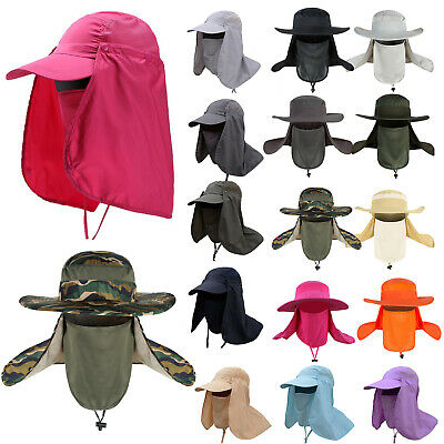 Legionnaire UV Protection Hat  Neck Flap Ear Face Cover Fishing Camping Sun Caps