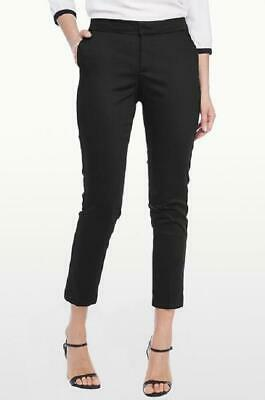 "New!! Nydj Tummy Tuck $114 ''Corynna"" Skinny Ankle Pants In Black Sateen Size 2"