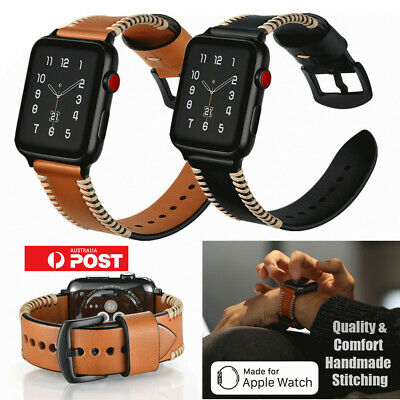AU Genuine Leather Wrist Band Strap For Apple Watch 1/2/3/4 iWatch 38/42/40/44mm