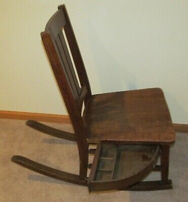 Vintage Oak Sewing Rocking Chair with Sewing Drawer  Local Pick Up  RARE