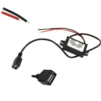DC-DC 12V To 5V Car Power Charger Converter Adapter Dual Doule USB Female Port