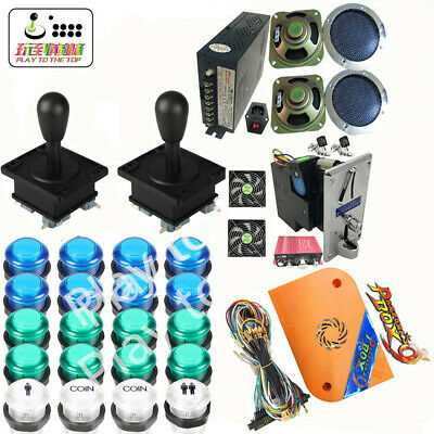 Newest DIY Arcade game parts kit with 1388 in 1 game board,Complete fittings
