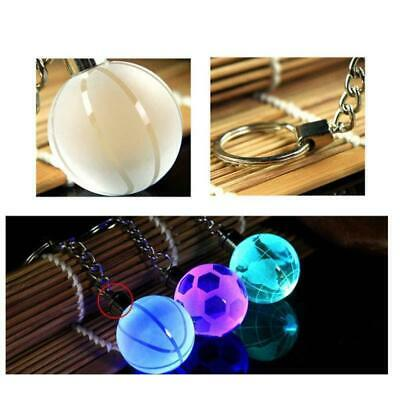 Crystal Ball 3D Engraved Key Chain Ring Keyring Keychain LED Glow Pendant Gifts