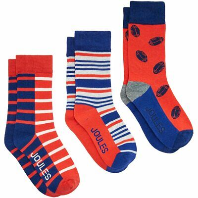Crab All Sizes Joules Boys 3 Pack Kids Underwear Socks