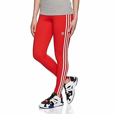 c167cd6b7e5e5 Adidas Originals 3 Stripe Womens Pants Leggings - Active Red All Sizes