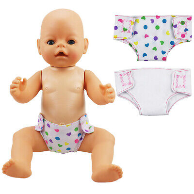 2pcs/set Doll Diaper Baby Underpants Clothes Doll Accessory Girls Toy Kids Gifts