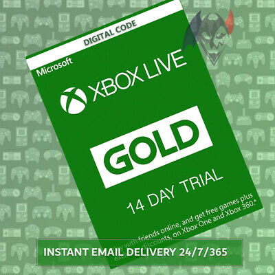 Xbox Live Gold Trial 14 Days - Region Free Instant Dispatch 24/7/365