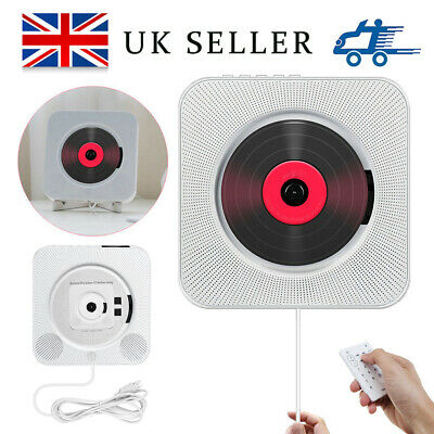 Bluetooth Wall Mounted CD Player FM Radio MP3 Music Player +Remote Control New