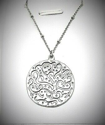 Silpada Sterling Cut Above Link Chain Necklace Cutout Filigree Round # 2328
