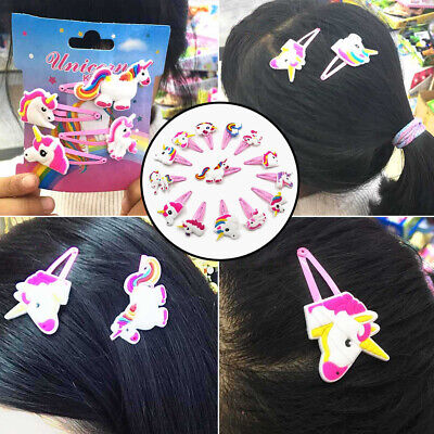 Girl Cartoon Unicorn Hairpin Hair Clips Hairs Headwear Kids Gift Supply Cute Acc