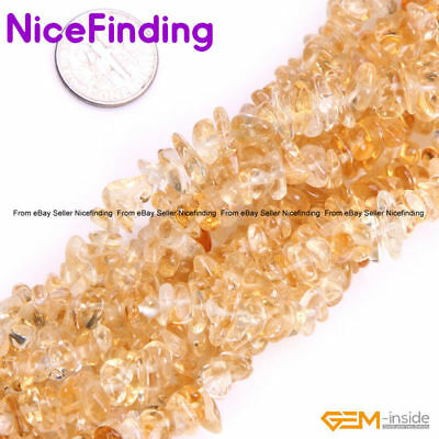 Natural Freeform Yellow Citrine Chips Stone Beads For Jewelry Making Strand 34""