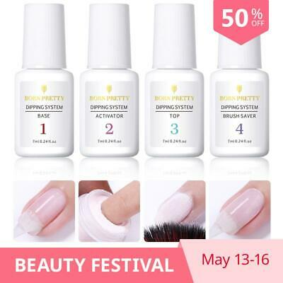 BORN PRETTY Base Gel Top Gel Natural Dry Activator Brush Saver For Dip Nail Powd