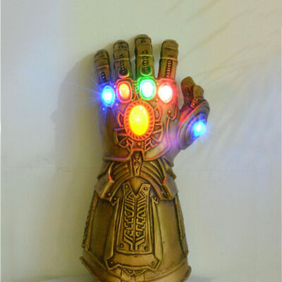 Avengers Infinity War Infinity Gauntlet LED Light Thanos Gloves Cosplay Props US