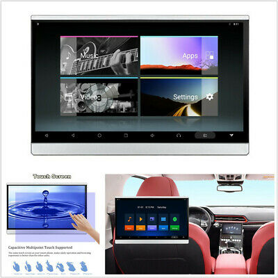 """12.5"""" HD Android 7.1 Octa-core Headrest Monitor Wifi BT HDMI 3G/4G USB AUX TPMS"""